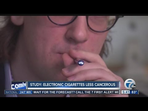 Study: Electronic cigarettes less cancerous