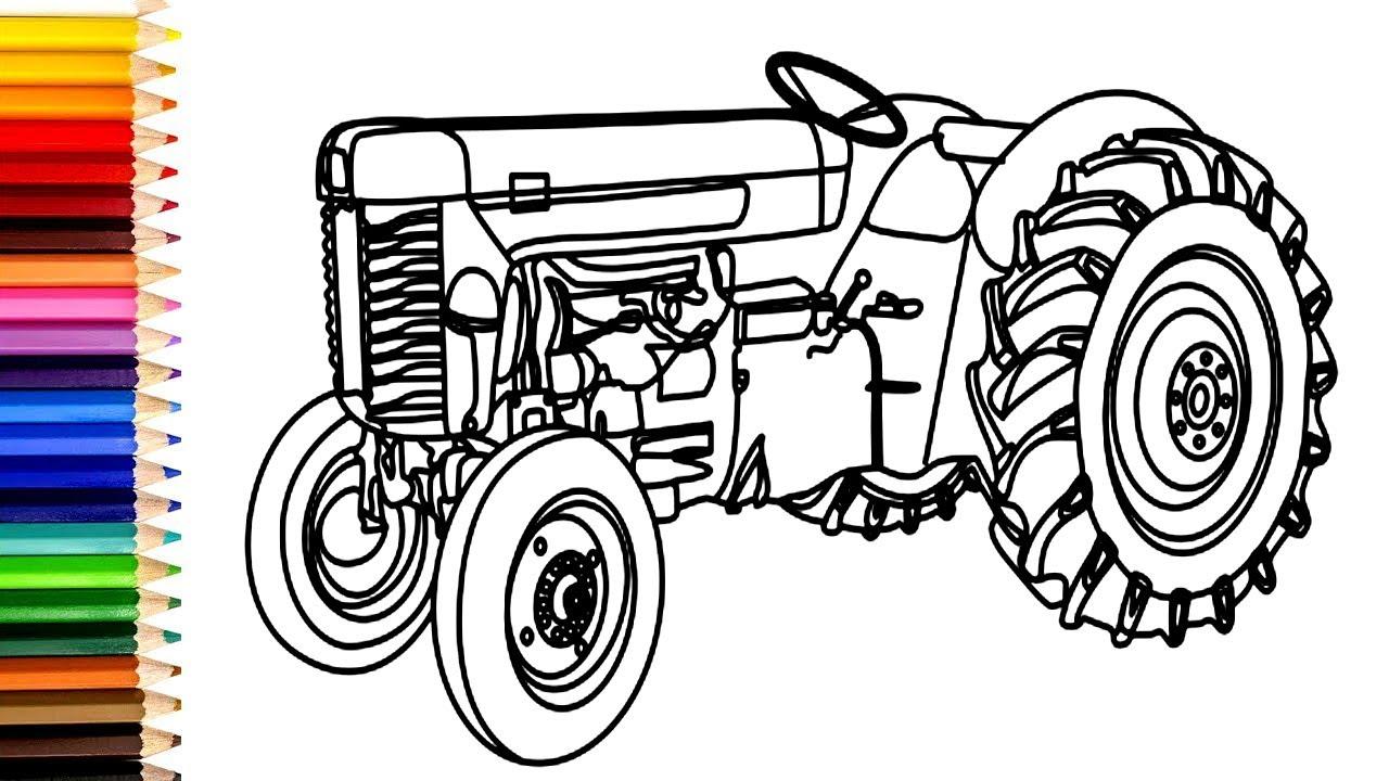 traktor ausmalbilder  traktor zeichnen und malen für