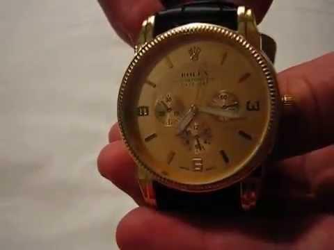 Наручные мужские часы ROLEX реплика видеообзор (купить)