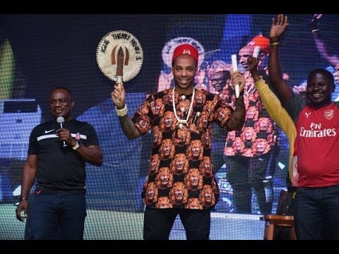 Thierry Henry's Arrival In Nigeria,Press Conference & Crowning as Igwe