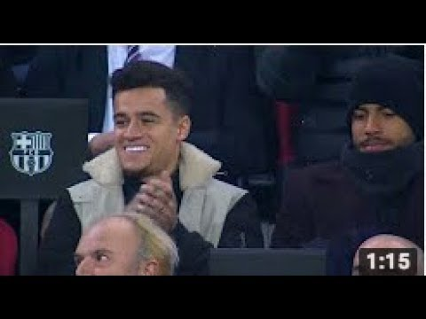 Philippe Coutinho's Reaction After Messi's 2 Amazing Goals Against Celta Vigo