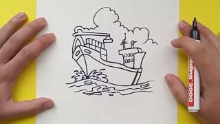 Como dibujar un barco paso a paso 2 | How to draw a boat 2