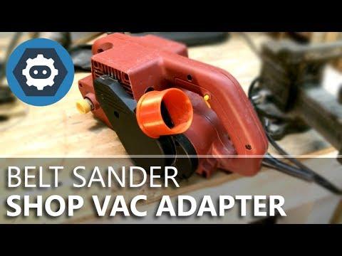 Harbor Freight Belt Sander To Vac Dust Port Adapter