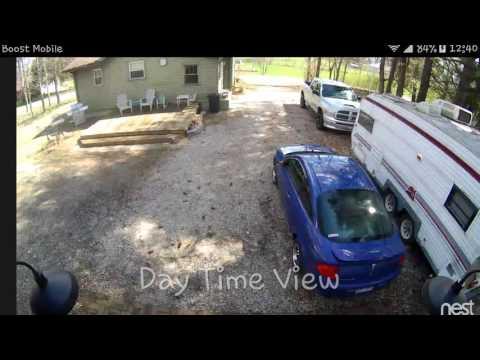 nest cam in outdoor case youtube. Black Bedroom Furniture Sets. Home Design Ideas