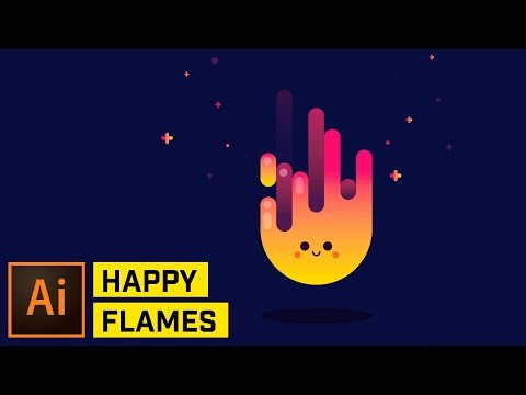 Happy Fire Artwork - Adobe Illustrator Tutorial