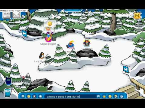 Club Penguin cool snow ball trick - YouTube