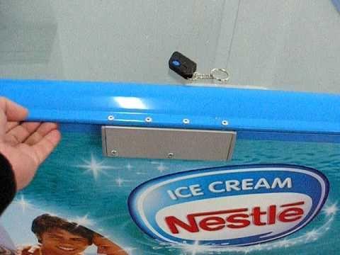 Електрическа брава с дистанционно за хладилни витрини