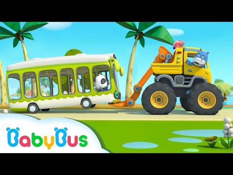 Monster Truck Rescue Bus | Vehicle  Song for Kids | Nursery Rhymes | Baby Songs | BabyBus