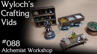 How to Make an Alchemist's Workshop for Dungeons & Dragons, Pathfinder Terrain (WCV 088)