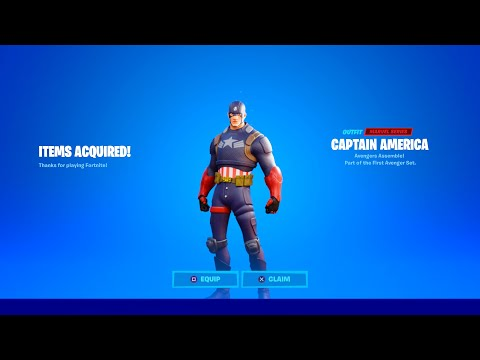 HOW TO GET CAPTAIN AMERICA SKIN IN FORTNITE!