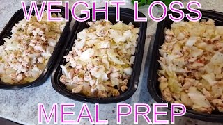 Weekly Meal Prep for Weight Loss | Ground Turkey Cabbage Skillet