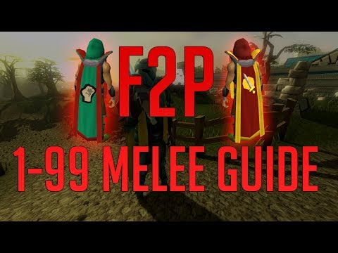 Runescape 3 - Free To Play 1-99 Melee Guide 2019