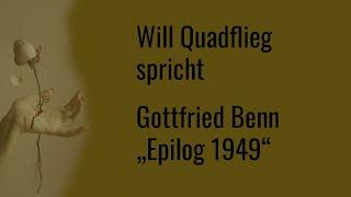 "Gottfried Benn – ""Epilog 1949"""