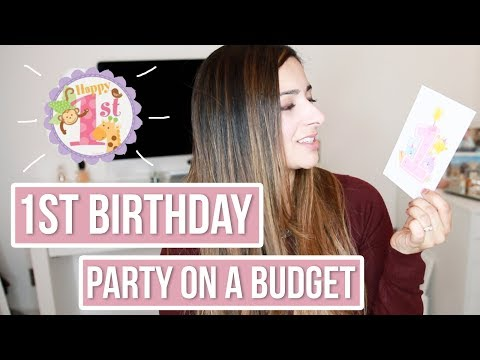 1ST BIRTHDAY PARTY ON A BUDGET | First Birthday Party Decoration Ideas for Girl | Ysis Lorenna