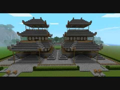 let s show minecraft chinesische h user und ein pokeball. Black Bedroom Furniture Sets. Home Design Ideas