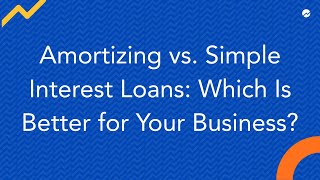 simple interest loan vs amortized mortgage with reduced principal