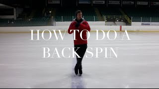 HOW TO DO A BACK SCRATCH SPIN | FIGURE SKATING ❄️❄️