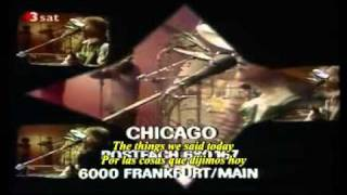 Chicago - If you leave me now (Ingles - Español)