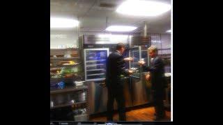 Berns Steakhouse, Tampa, FL. kitchen and wine cellar tour