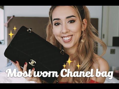 1 Most Worn Chanel Bag Velvet Flap
