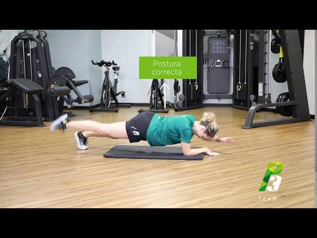Plancha elevación de brazo con pierna contraria
