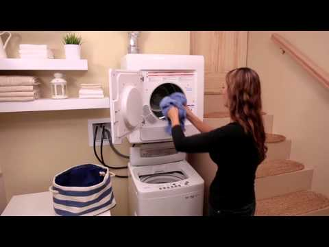 Loading the Dryer - Haier HLP141E Electric Vented Tumble Dryer