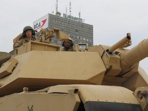 Military parade in Riga (rehearsal), Latvia 2014/ 18.11.2014.