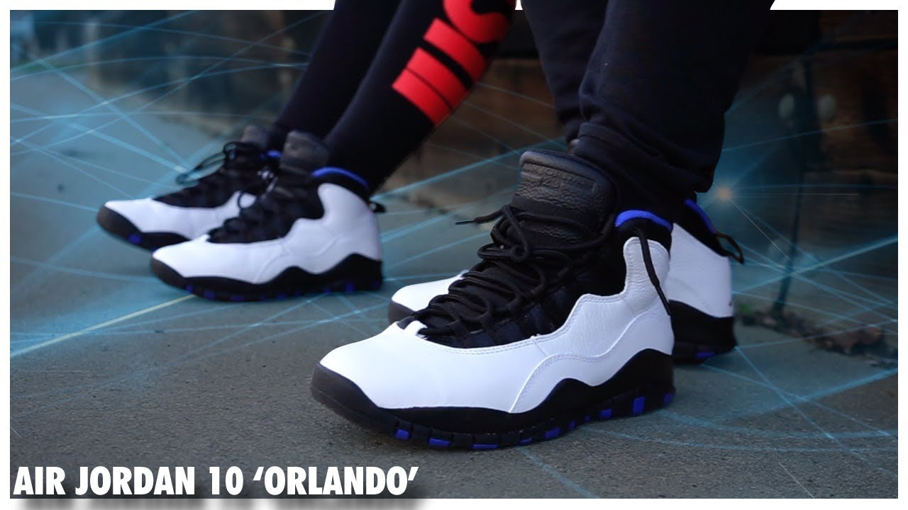90ef0bba952 Air Jordan 10 'Orlando' - YouTube