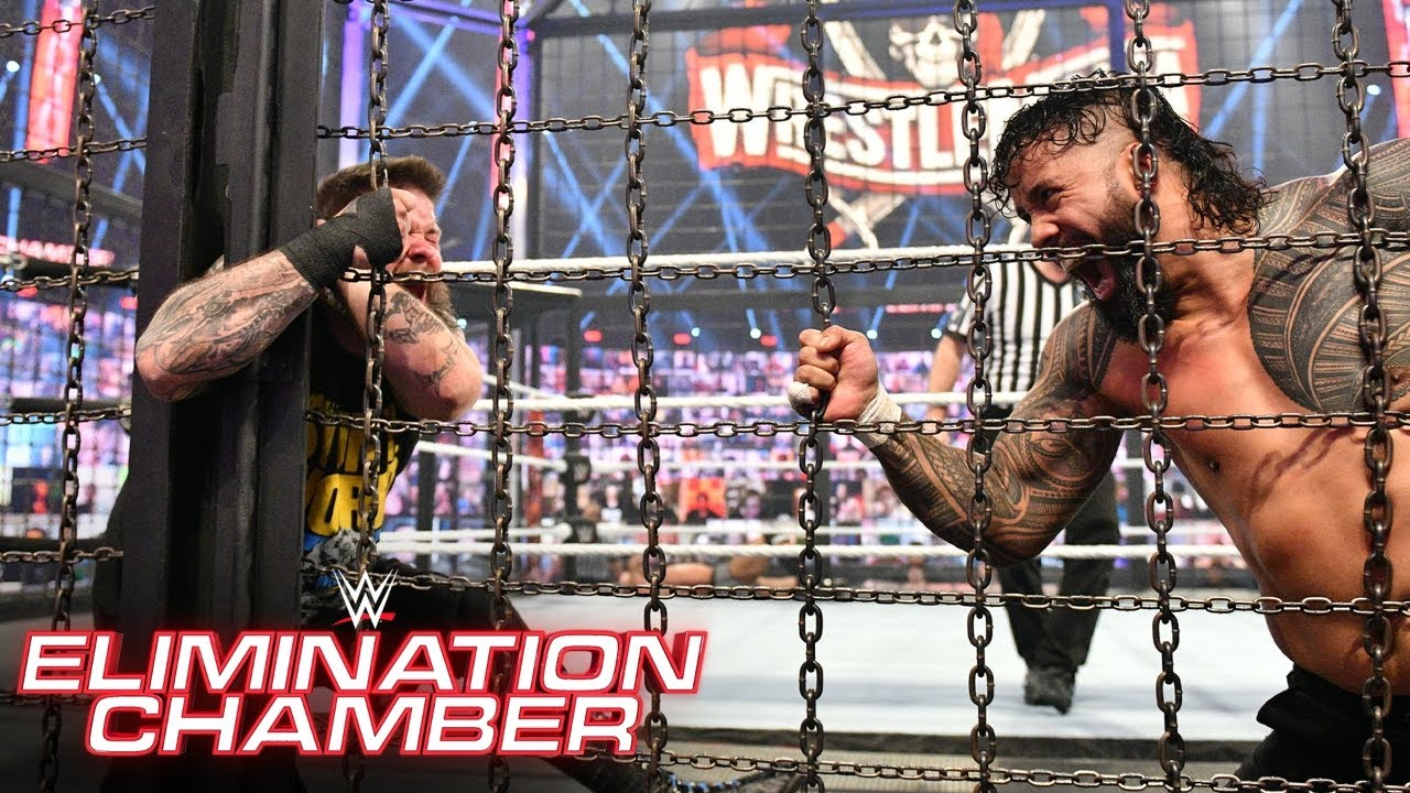Jey Uso uses the Chamber to crush Kevin Owens: WWE Elimination Chamber 2021 (WWE Network Exclusive)