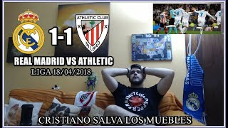 REAL MADRID VS ATHLETIC BILBAO 1-1 REACCION | ¡CRISTIANO SALVA AL MADRID! | LIGA 18/04/2018