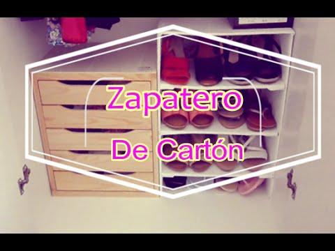 Diy zapatero de cart n youtube - Como hacer un zapatero casero ...