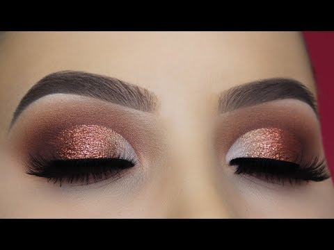 Affordable Classic Brown Glitter Eye Makeup Tutorial