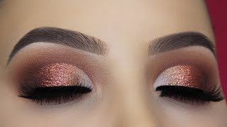 connectYoutube - Affordable Classic Brown Glitter Eye Makeup Tutorial