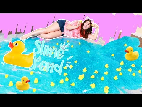 I MADE A SLIME DUCK POND ON MY LIVING ROOM FLOOR ~ how to make a duck pond