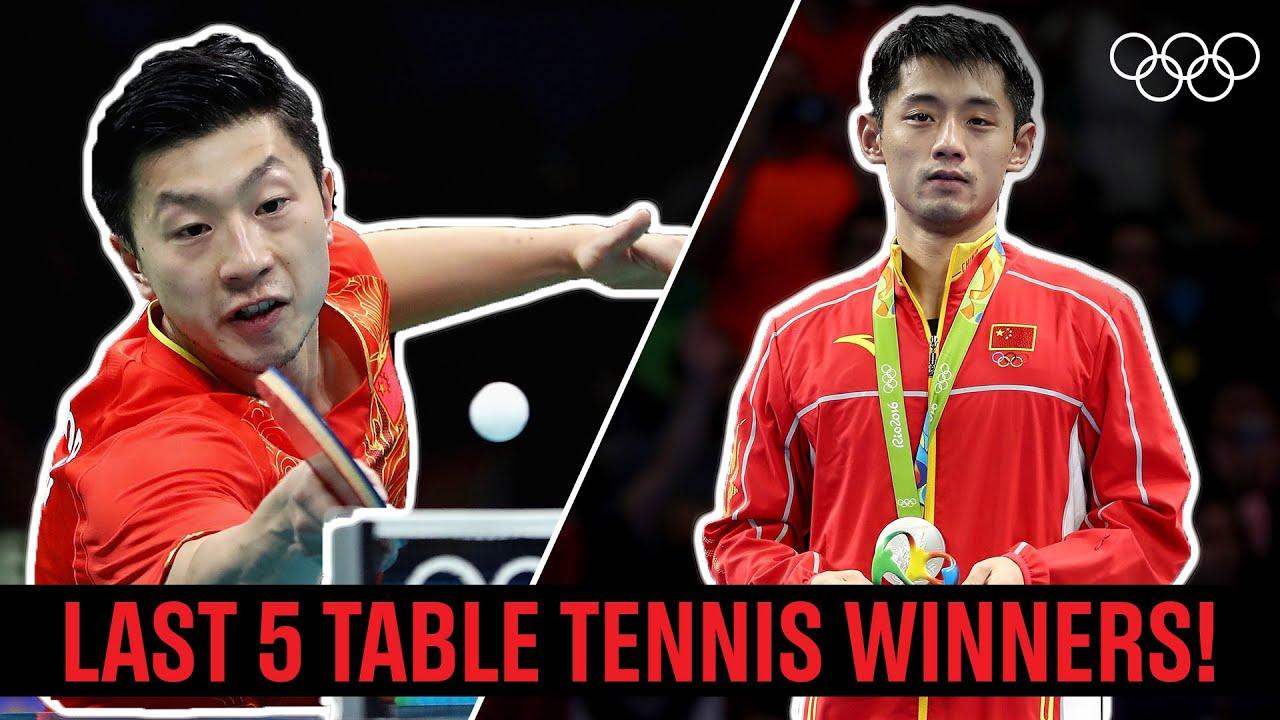 Download Men's Singles Table Tennis 🏓 Last 5 Champions