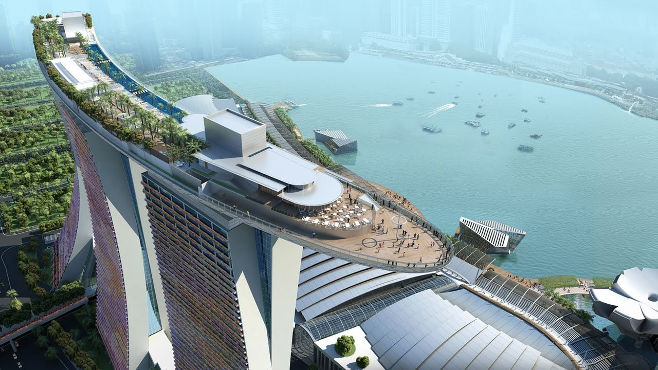 Marina bay sands hotel in singapore youtube