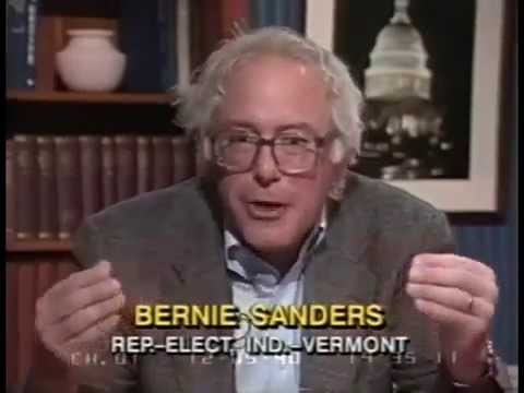 C-SPAN interview with Bernie Sanders when he first joined Congress in 1991