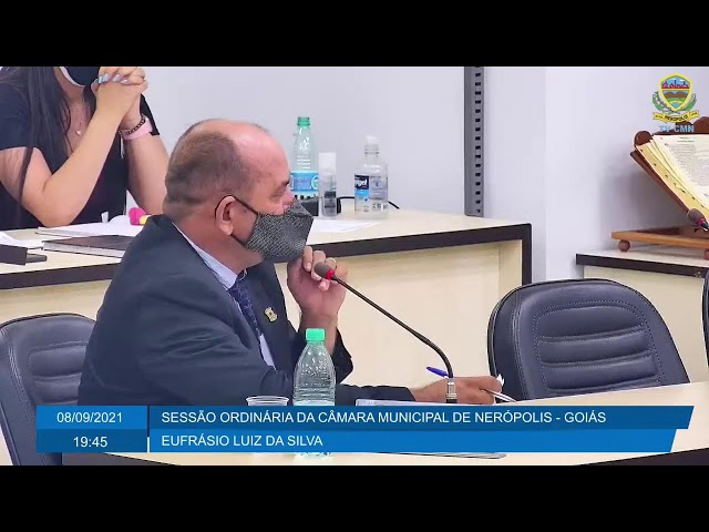 Sessão da Câmara Municipal de Nerópolis 08/09/2021