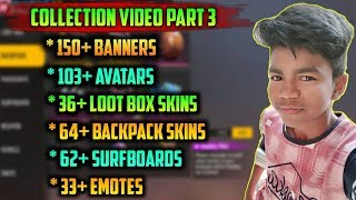 BackPack, Surfboard,Emote,Banner,Avatar Collection Video🤑 || Kutty Gokul Collection Video😍