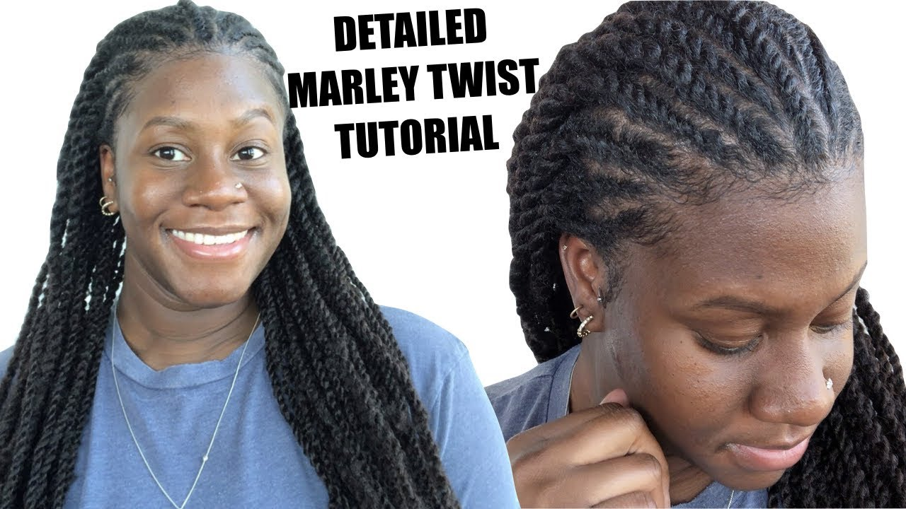 marley twists tutorial for beginners | detailed how to feed in flat twist!