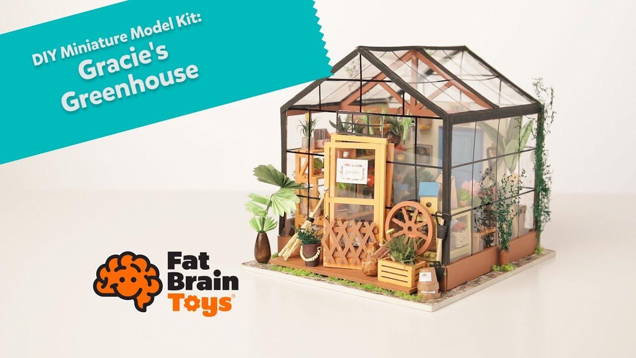 Diy Miniature Model Kit Gracies Greenhouse