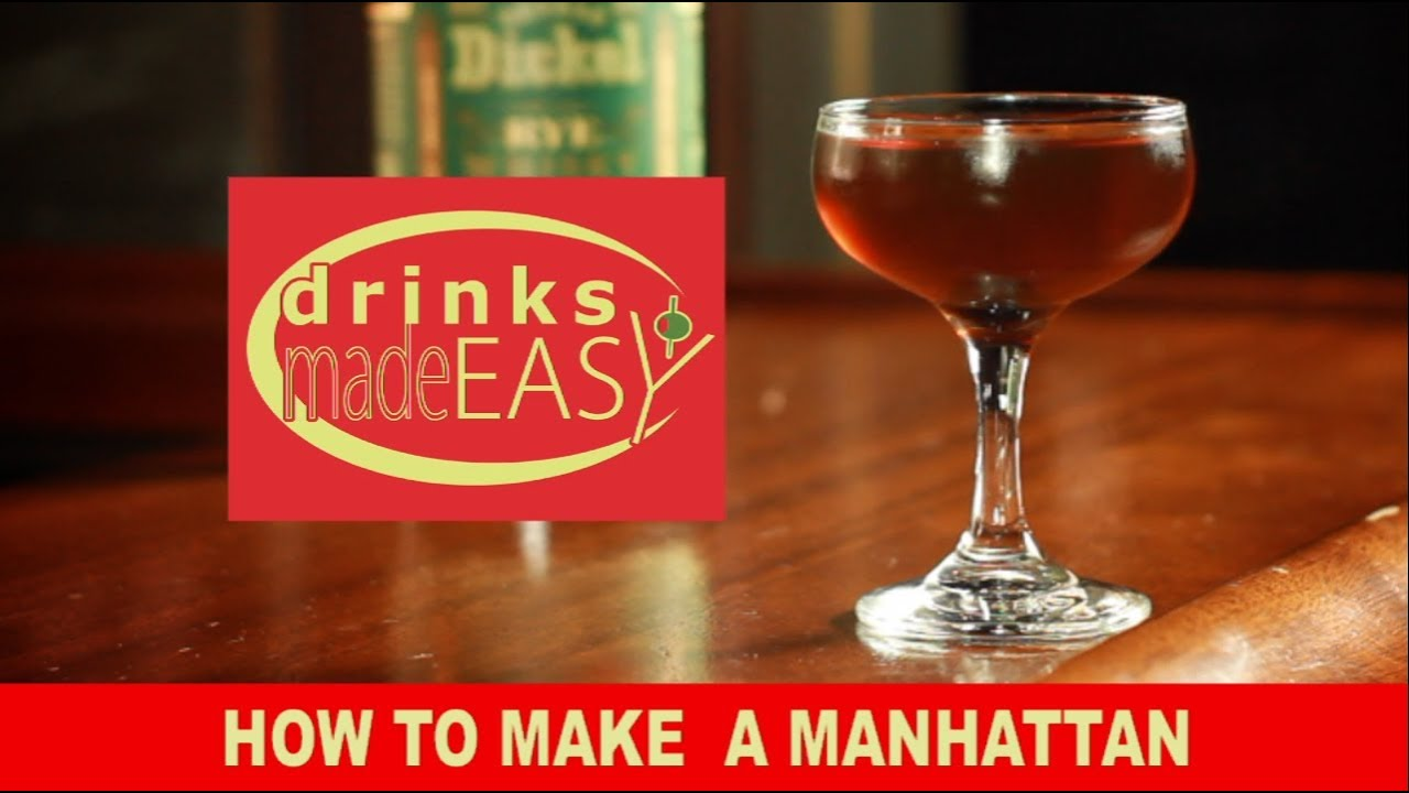 How to make a manhattan cocktail with george dickel rye for Easy to make drinks
