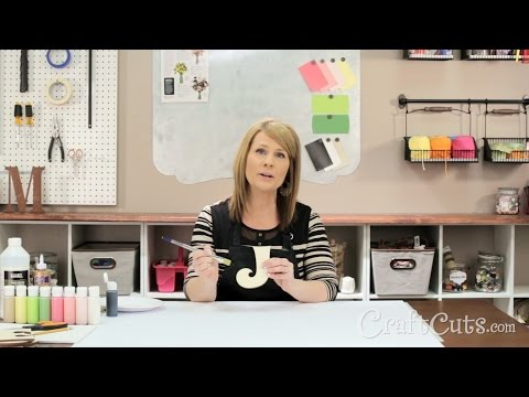 How to Paint Flowers on Wood Letters