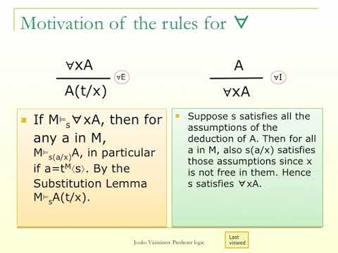 LO27: Natural Deduction In Predicate Logic
