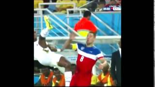 Watch Clint Dempsey Kicked In The Face | Ghana Vs Usa 1-2 | World Cup 2014 Hd Brazil