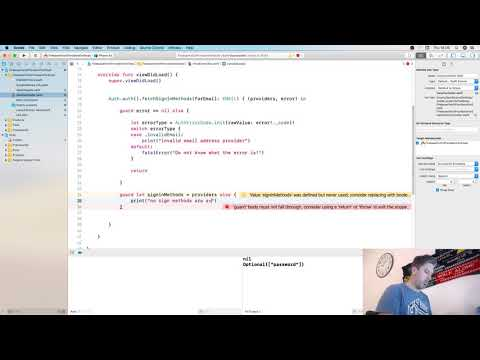 Fetch Signin Methods For an Email - Firebase - Swift - Xcode thumbnail