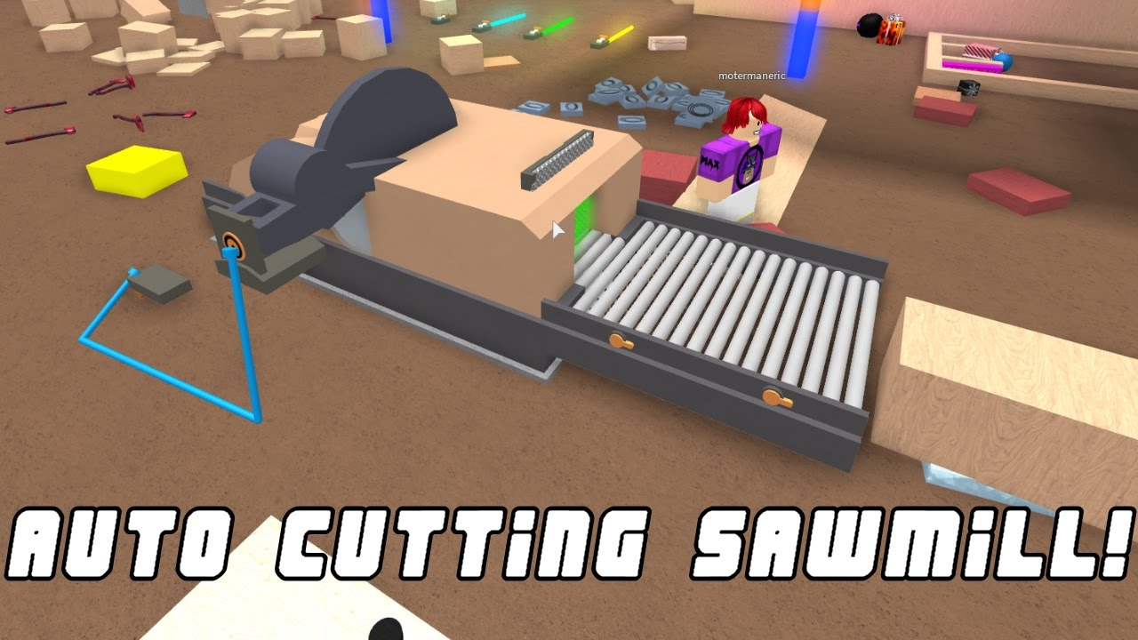 Amazing Auto Chopping Saw Mill!! Lumber Tycoon 2