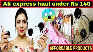 Products शुरु Rs 9 से | Aliexpress haul under Rs 140 |  Affordable haul | Aliexpress haul india