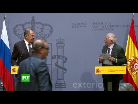 Sergueï Lavrov s'entretient avec son homologue espagnol