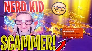 8 YEAR OLD NERD Scammer SCAMS Himself *SCAMMER GETS SCAMMED* In Fortnite Save The World